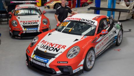 Lowndes and Wall reveal striking Porsche Paynter Dixon Carrera Cup Australia livery