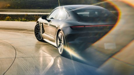 Continuous updates for Porsche's first electric sports car
