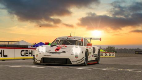 Tandy Tops. Porsche Factory Driver Scores First IMSA iRacing Win.