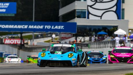 Wright Step. Porsche Claims Podium with Wright Motorsports at Road Atlanta.
