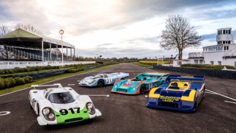 50 Jahre Porsche 917: Showdown in Goodwood