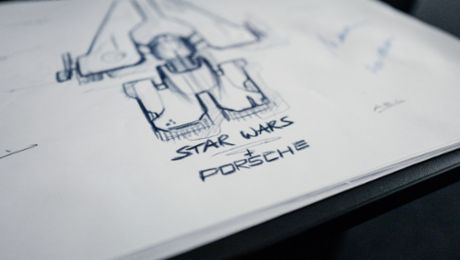 Porsche and Lucasfilm jointly design a fantasy starship