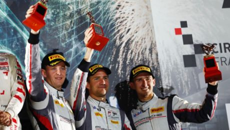 Porsche on the podium after strong charge through the field