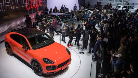 Porsche Cayenne Coupé celebrates Asian premiere