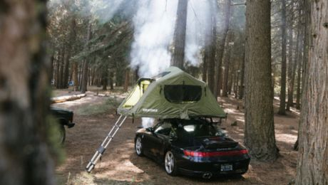 Raising the roof: 911 with roof tent
