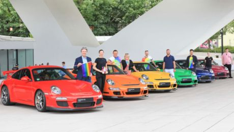 Porsche celebrates Christopher Street Day gay pride festival
