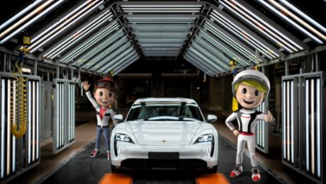"Summer holiday programme Porsche 4Kids in the ""Car Factory"""