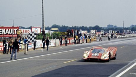 Porsche achieved the first overall victory at Le Mans 50 years ago