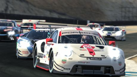 Best Porsche 911 RSR concludes spectacular online race in fifth