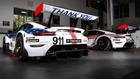 Red, White and Thank You. Porsche GT Team Brings North American-Focused Livery to Sebring Finale.