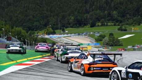Capacity grid in the international Porsche Mobil 1 Supercup