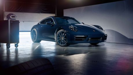 Special edition of the new 911: Blue ribbon