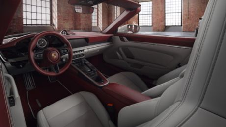 Zweifarbiges Leder-Interieur der Porsche Exclusive Manufaktur