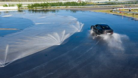 Porsche Taycan drifts into the Guinness World Records™ book