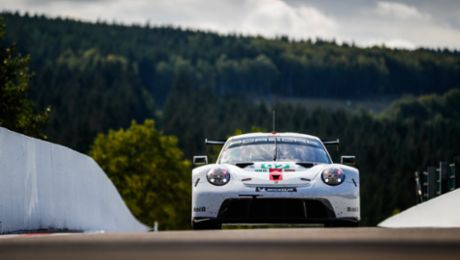 Data from the Porsche 911 RSR transferred in milliseconds