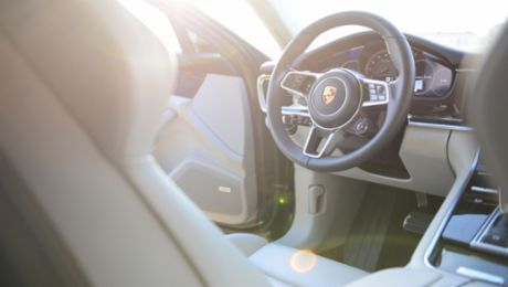 Business travel in the Panamera