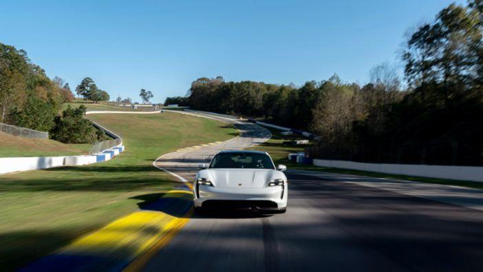 Porsche Taycan Turbo S sets production EV lap time at Michelin Raceway Road Atlanta
