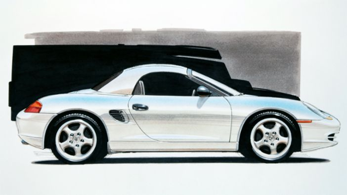 photo of The Boxster sports car concept: trendsetting design and clever detailed solutions image