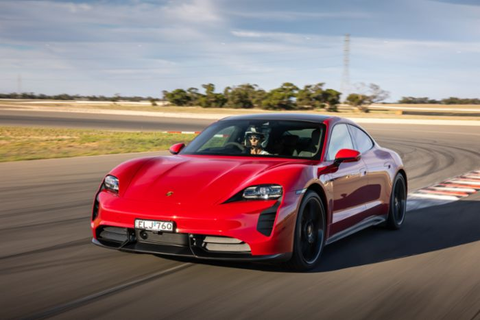 photo of Taycan Turbo S establishes first EV lap record at The Bend image