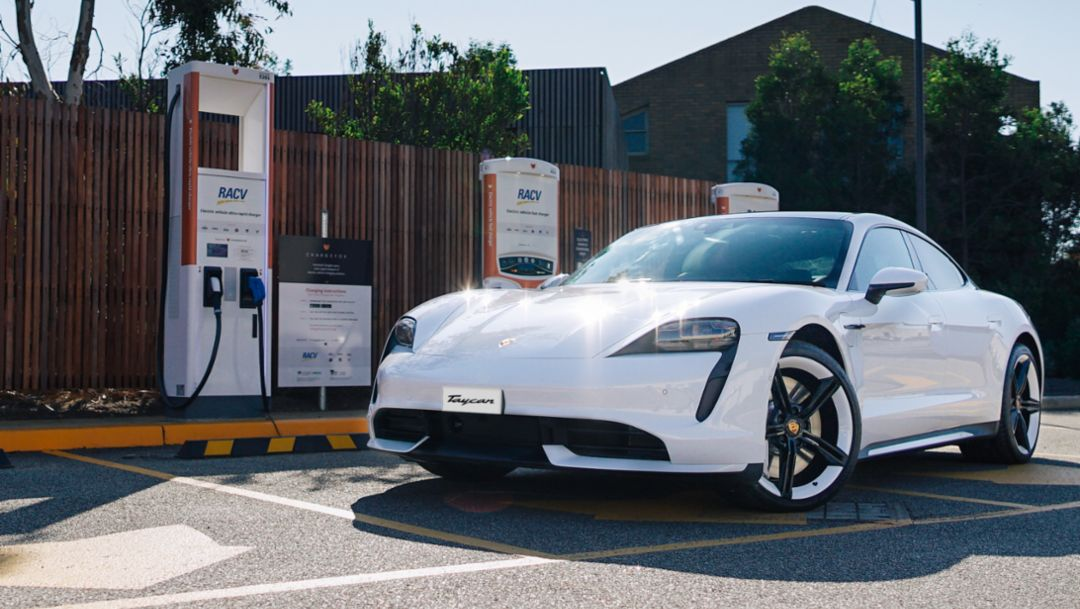 Charging the Porsche Taycan