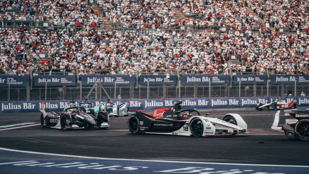 Mixed Mexico. Porsche Formula E Team Leaves Round 4 with Mixed Results.