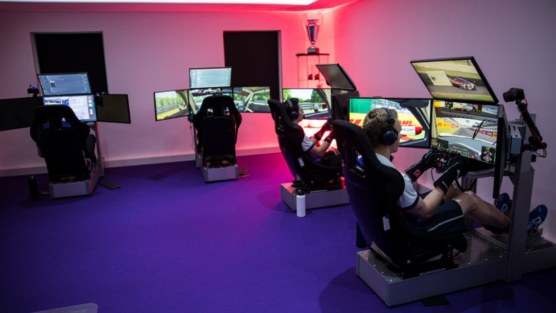 Esports Command. Porsche Esports Team Connects with Coanda Simsport.