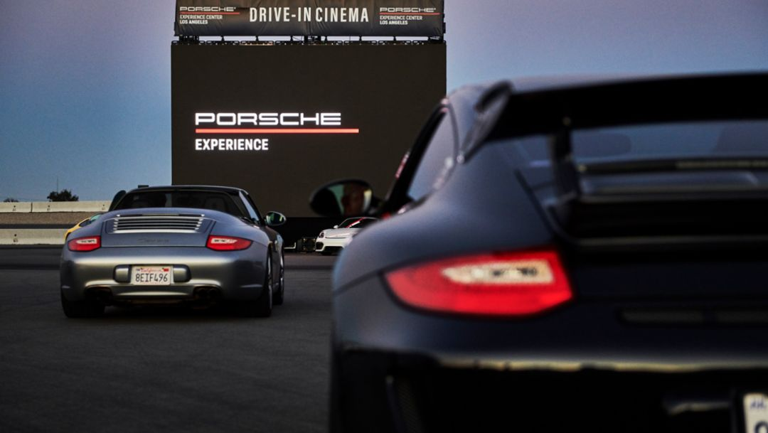 Porsche opens U.S. track centers for movie thrills with pop-up drive-in theater nights