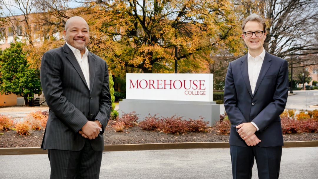 Porsche launches new scholarship and guest lecture series at Morehouse College
