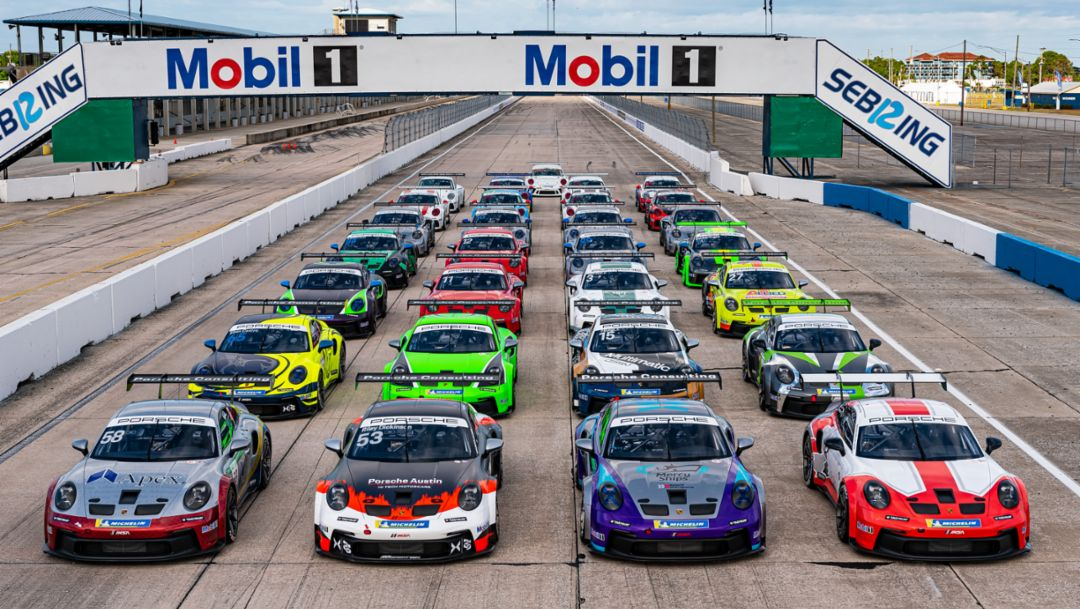 Porsche Carrera Cup North America Debuts New Porsche 911 GT3 Cup Race Car
