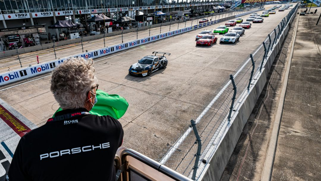 Priaulx Enters Record Book as First Winner of Porsche Carrera Cup North America