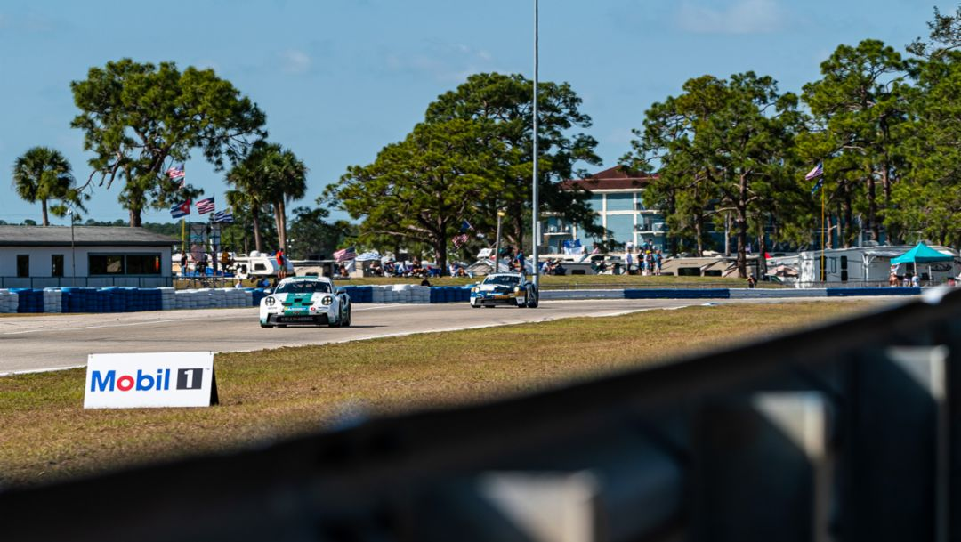 Kay van Berlo Best wins Round 2 of Porsche Carrera Cup North America at Sebring