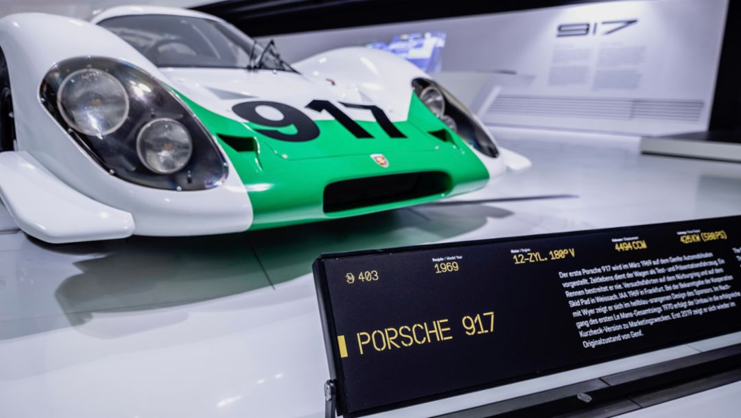 917-001, выставка «50 лет Porsche 917 – Colours of Speed», музей Porsche, 2019, Porsche AG
