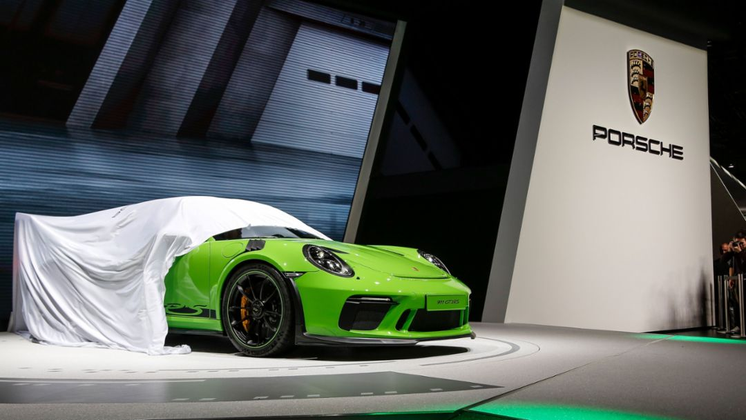 911 GT3 RS, Internationaler Automobil-Salon Genf, 2018, Porsche AG
