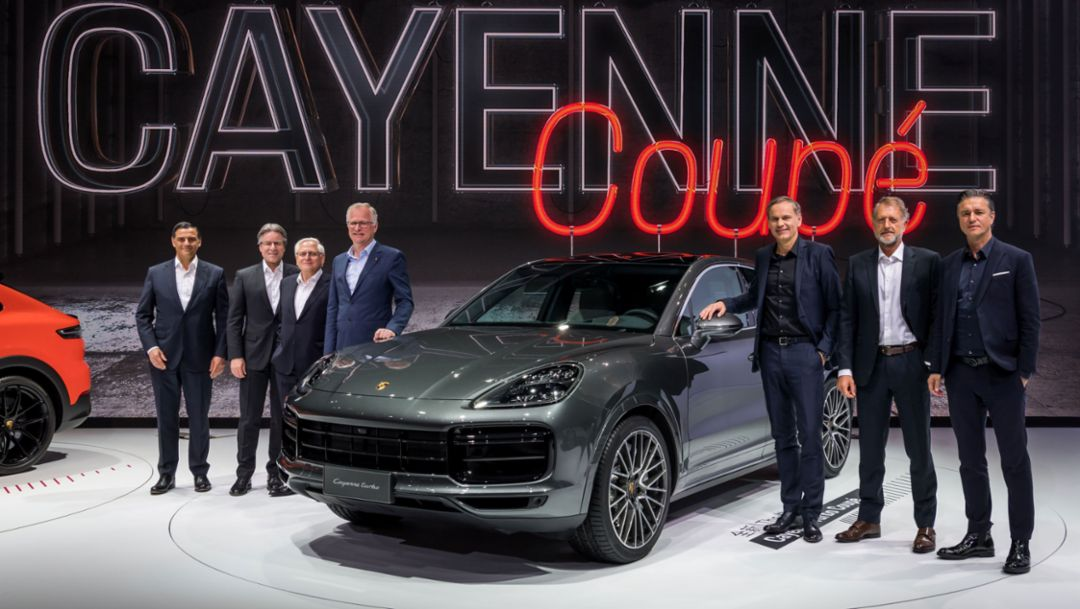 Executive Board of Porsche AG, Cayenne Turbo Coupé, Auto Shanghai, 2019, Porsche AG
