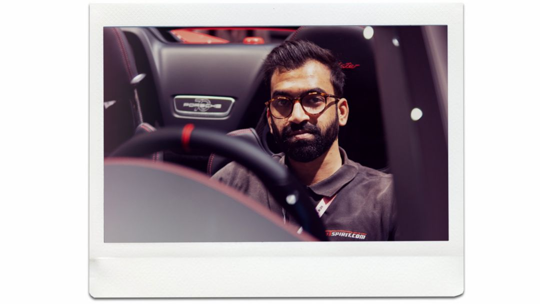 Zaid Hamid, journalist, 911 Speedster, world premiere, New York International Auto Show, 2019, Porsche AG