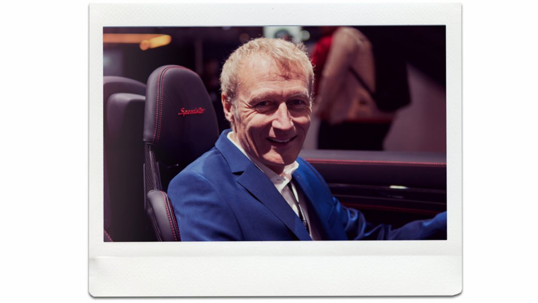 Andreas Breuninger, 911 Speedster head developer, world premiere, New York International Auto Show, 2019, Porsche AG