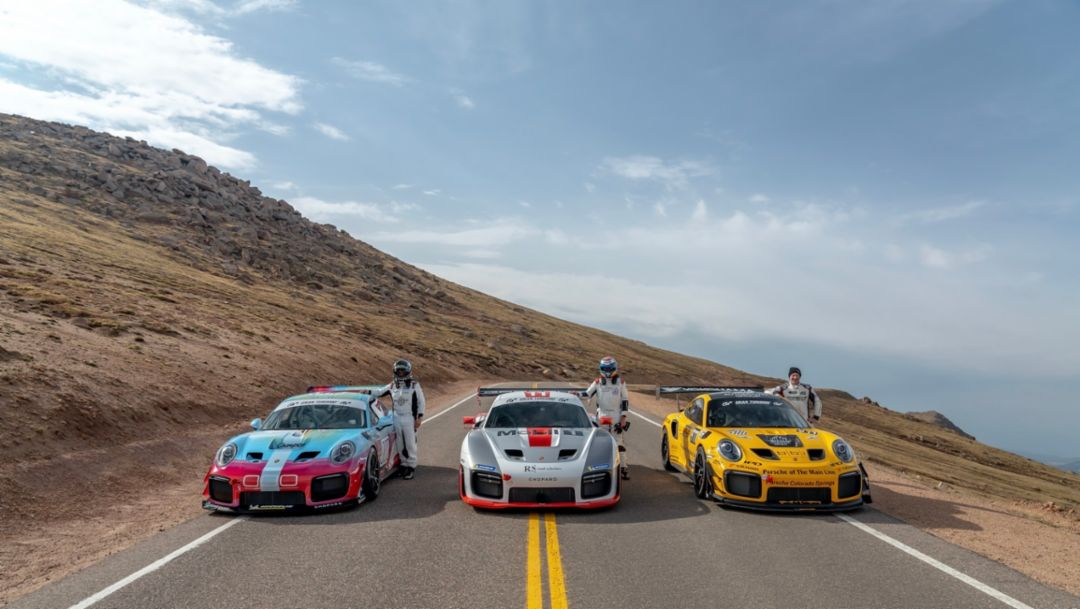 Welcome to the Clubsport. Porsche 911 GT2 RS and Cayman GT4 Clubsport Models Earn Pikes Peak Wins.