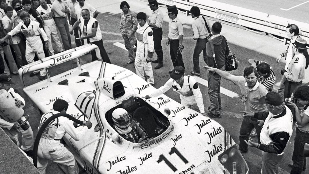Sieger-Porsche 936 von Jacky Ickx und Derek Bell, Le Mans, 1981, Porsche AG