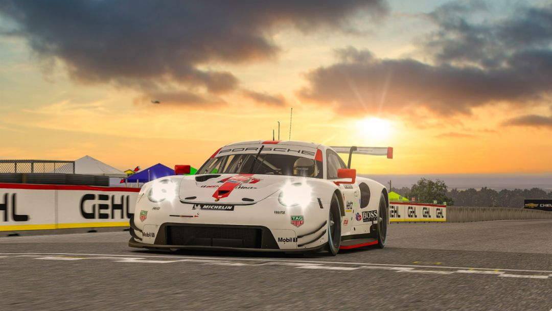Nick Tandy scores victory for Porsche at the virtual Road America