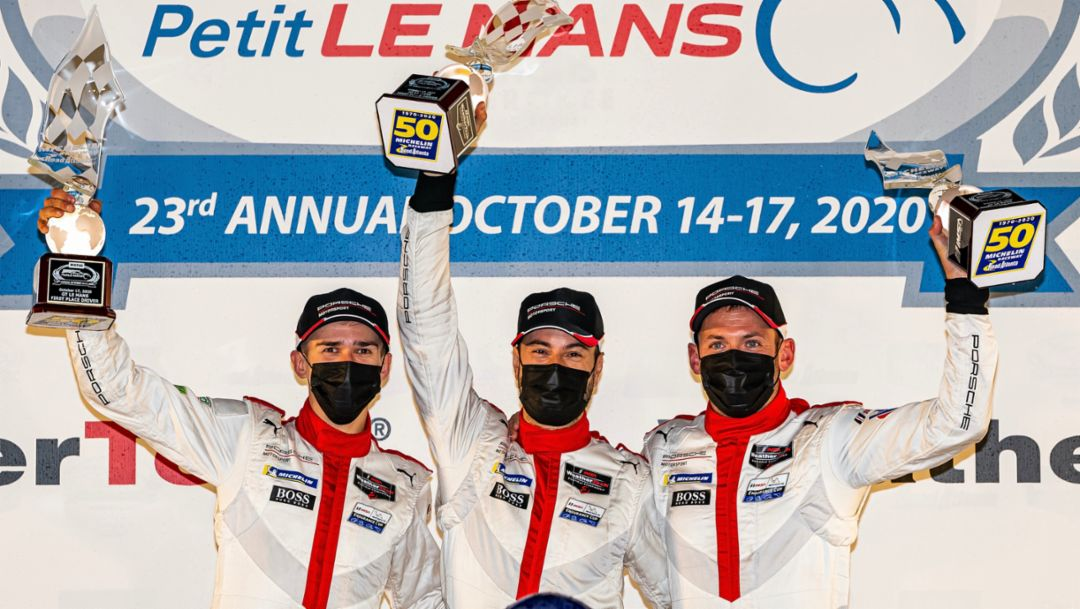 Porsche Victory. Porsche GT Team Secures Record-Extending Win at Petit Le Mans.