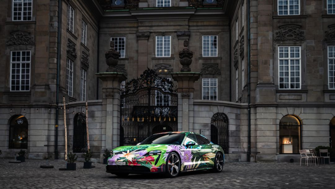 Porsche auctions Taycan Artcar by Richard Phillips for charity