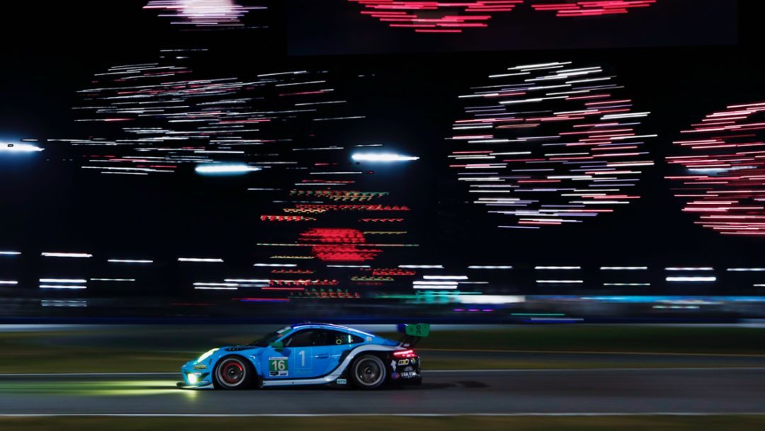 Wright Four Daytona. Veteran Porsche Squad Leads Privateers to Daytona Success.