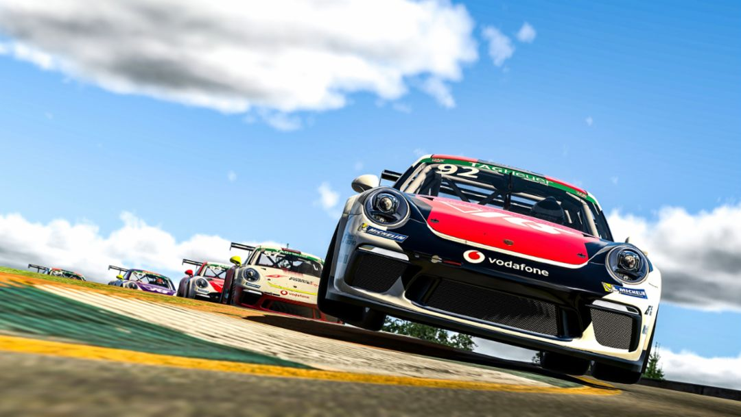 Double-Play. Rogers Scores First Two-Win Weekend of 2021 Porsche TAG Heuer Esports Supercup Season.