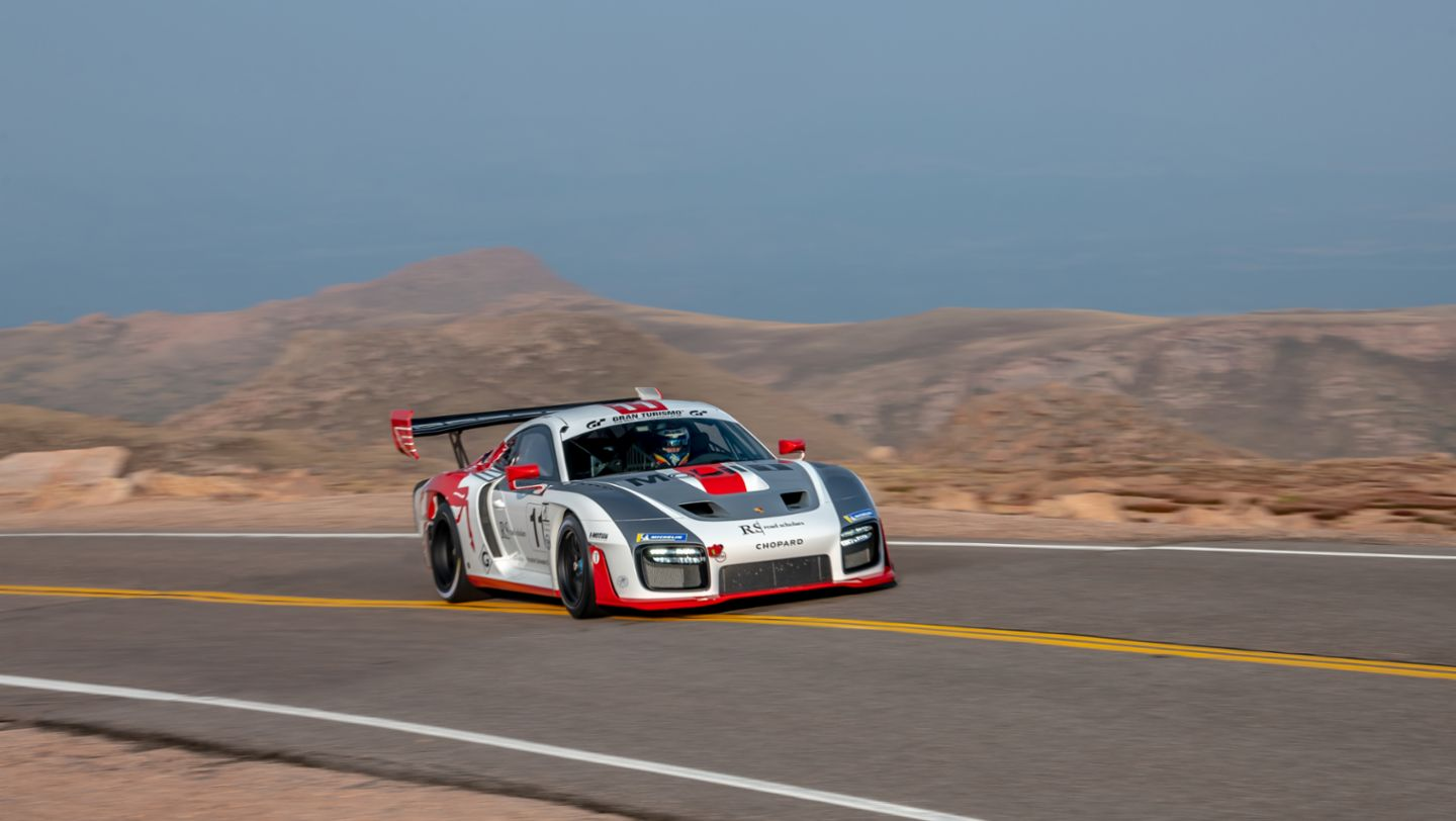 No. 11 Porsche 935-19, Jeff Zwart Run 2, Pikes Peak, 2020, by Marc Urbano