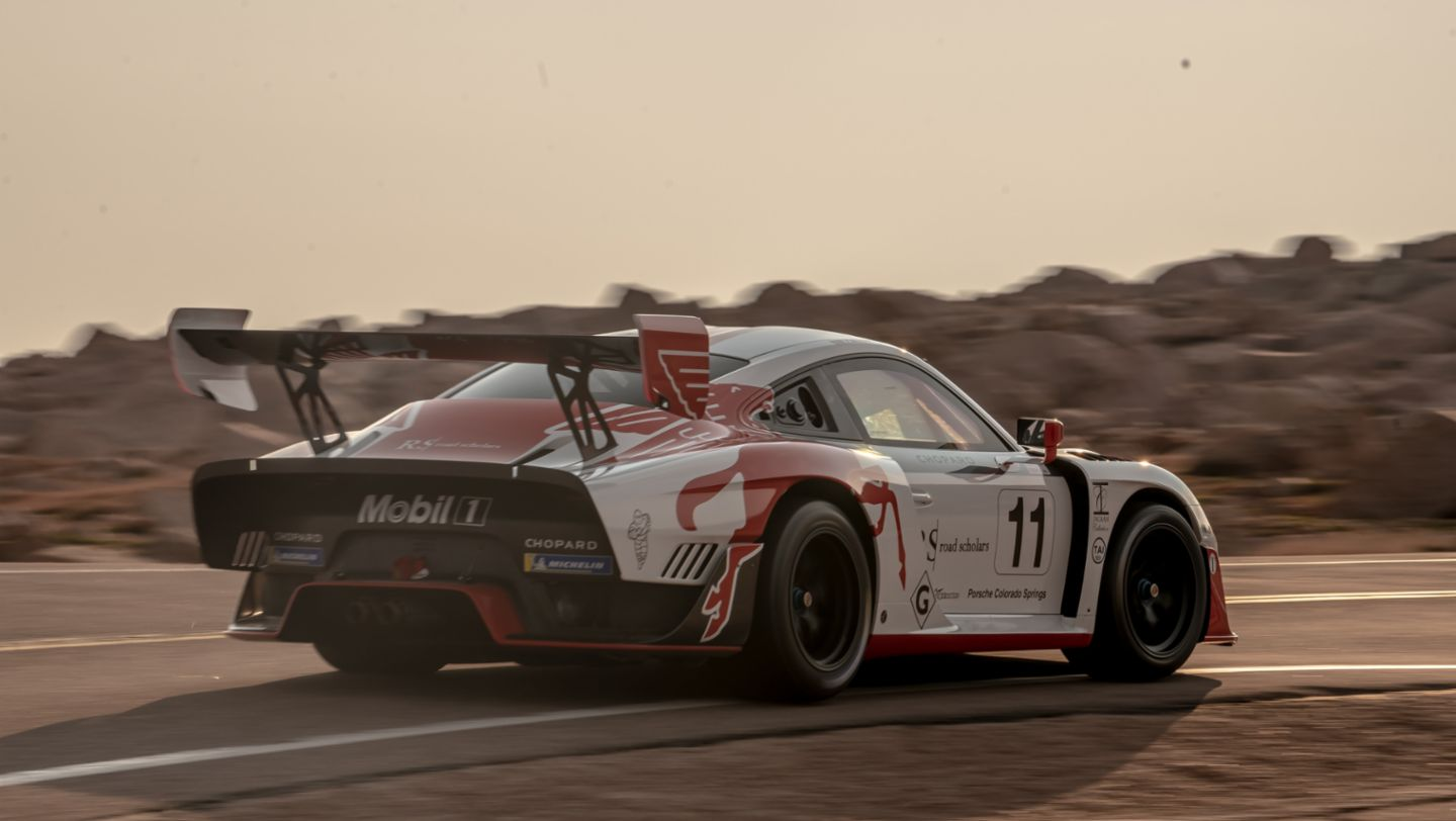 No. 11 Porsche 935-19, Jeff Zwart Run 3, Pikes Peak, 2020, by Marc Urbano