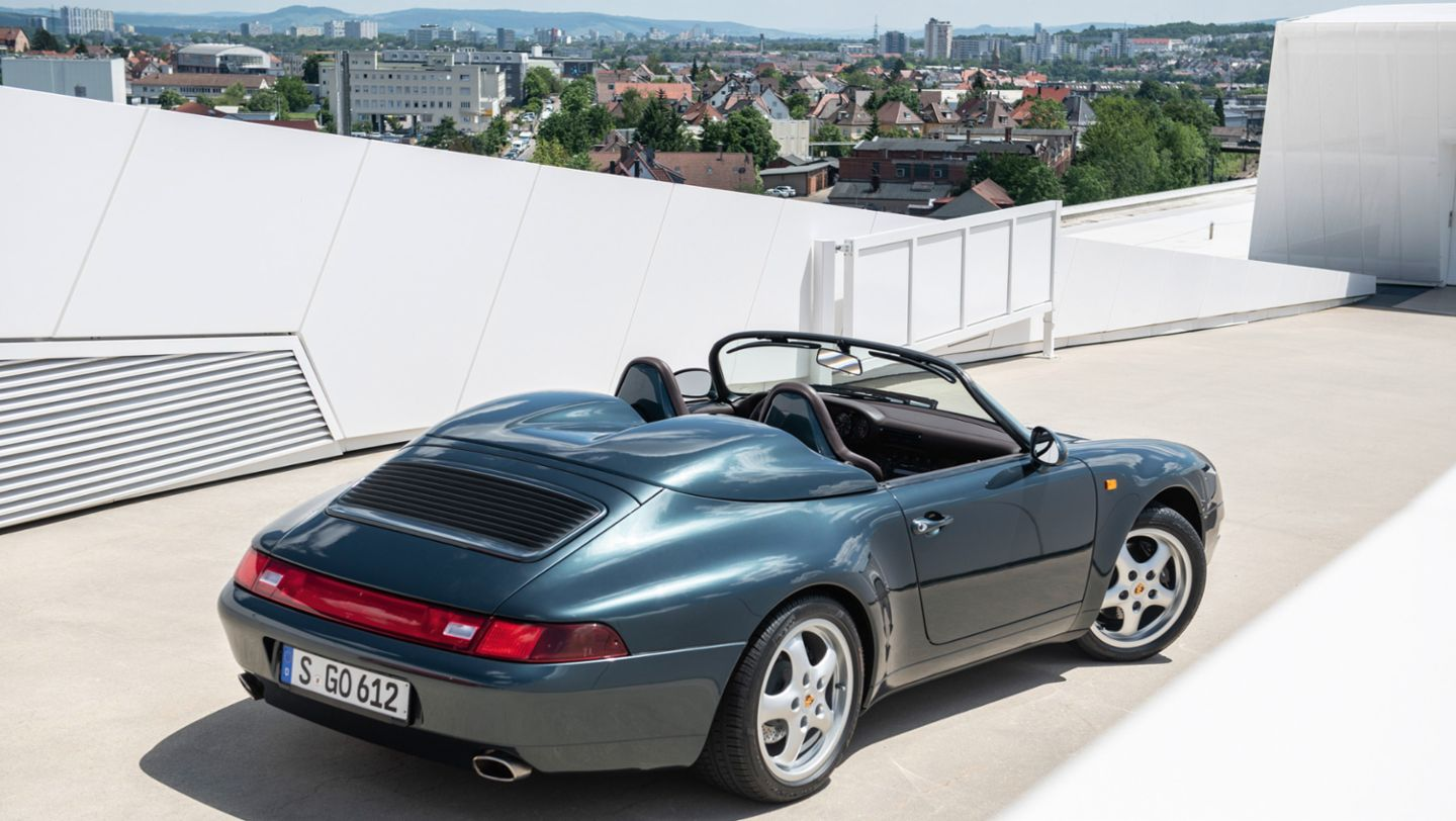 911 Speedster, roof terrace of the Porsche Museum, 2019, Porsche AG