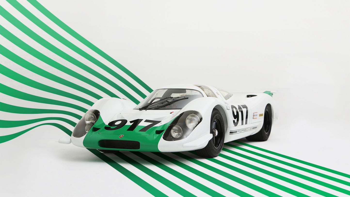 917-001 with green and white colour scheme, 2019, Porsche AG