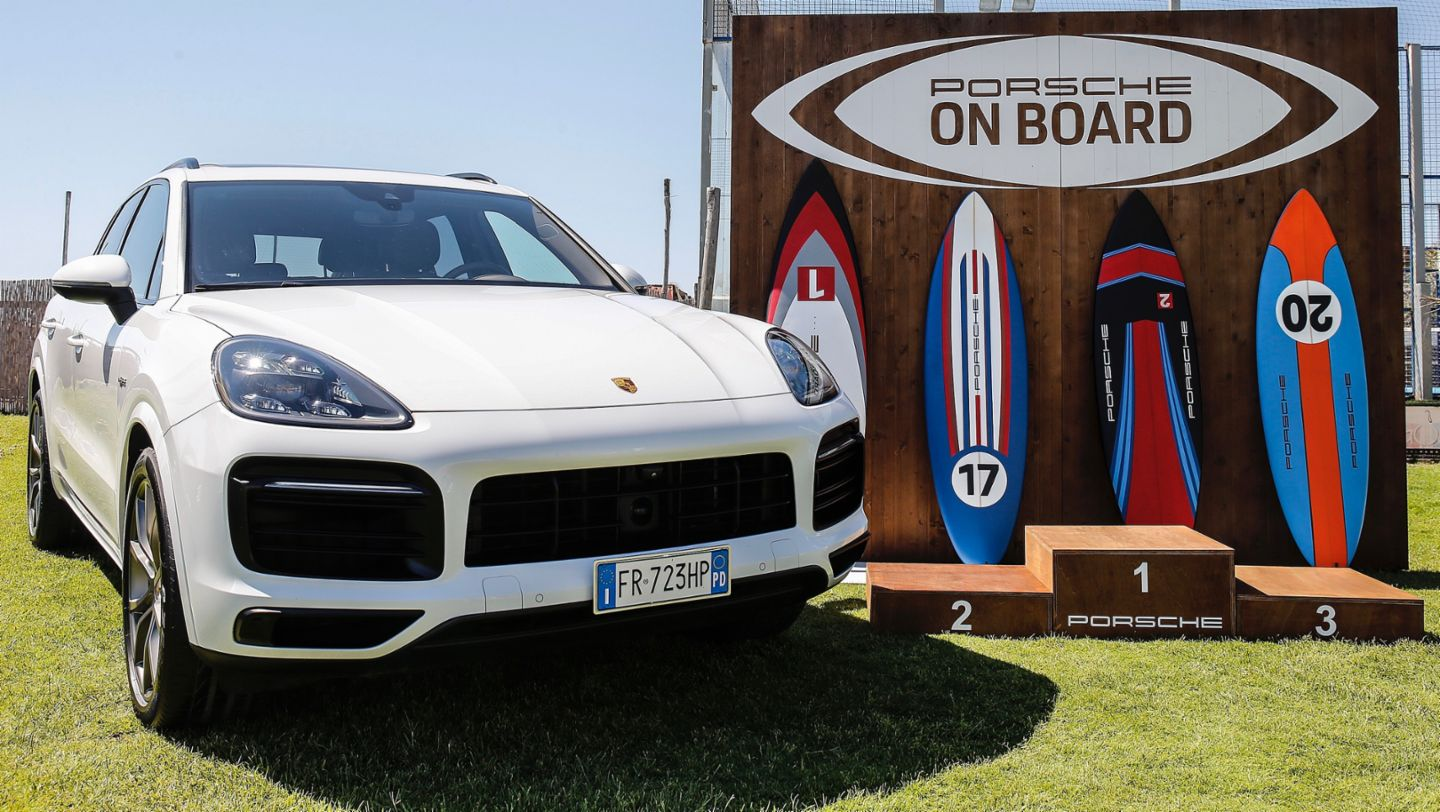 Cayenne, Wassersport-Initiative Porsche On Board, Italien, 2019, Porsche AG