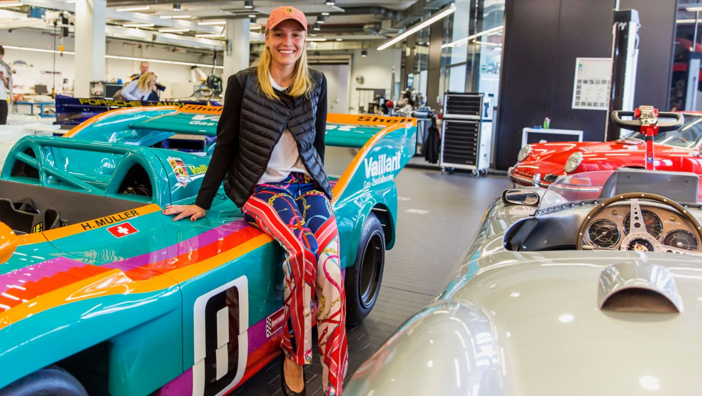 A perfect match - Donna Vekić and the Porsche 917/30-001 from 1975 (2019)