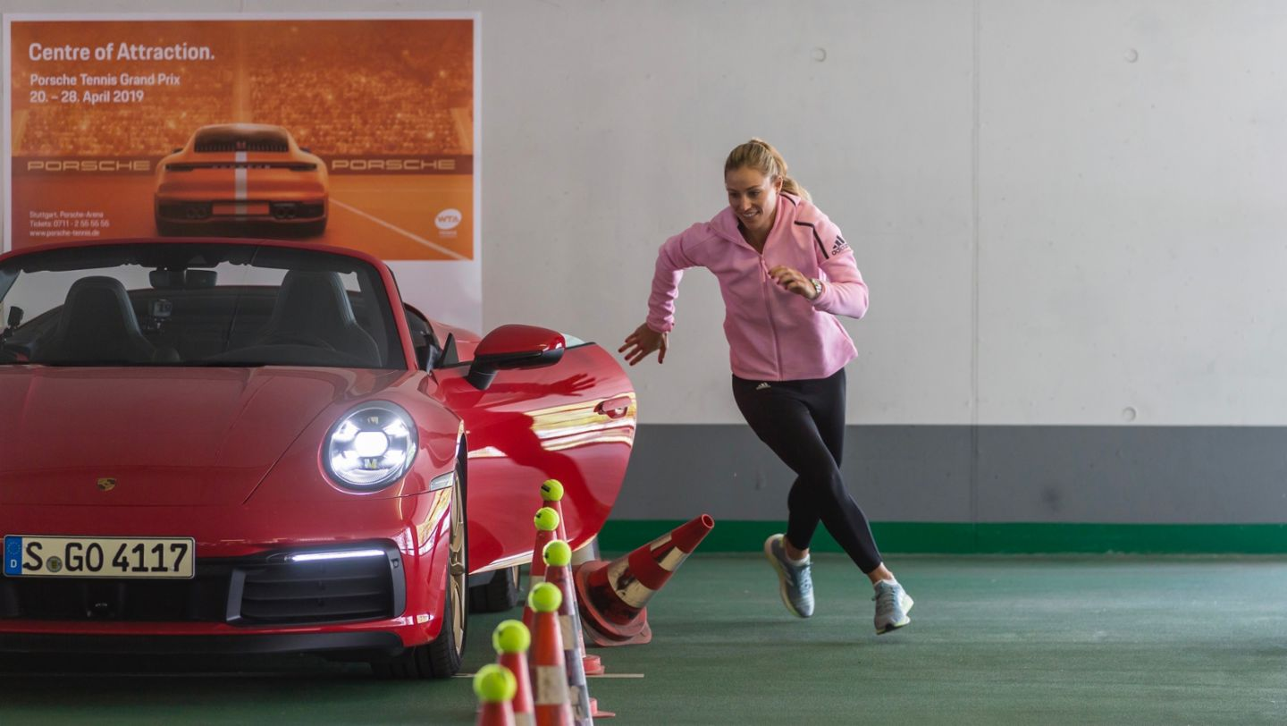 911 Carrera 4S Cabriolet, Angelique Kerber, Porsche Tennis Grand Prix, Parking Challenge, 2019, Porsche AG